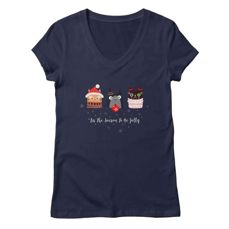 'Tis the season to be jolly... Women's V-Neck by Shop to help cats
