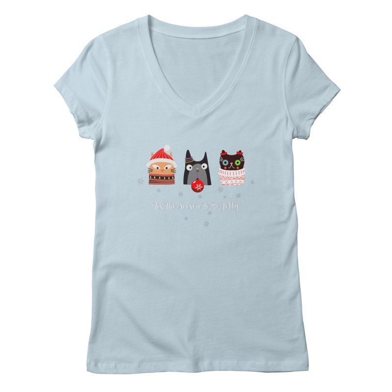 'Tis the season to be jolly... Women's Regular V-Neck by Shop to help cats