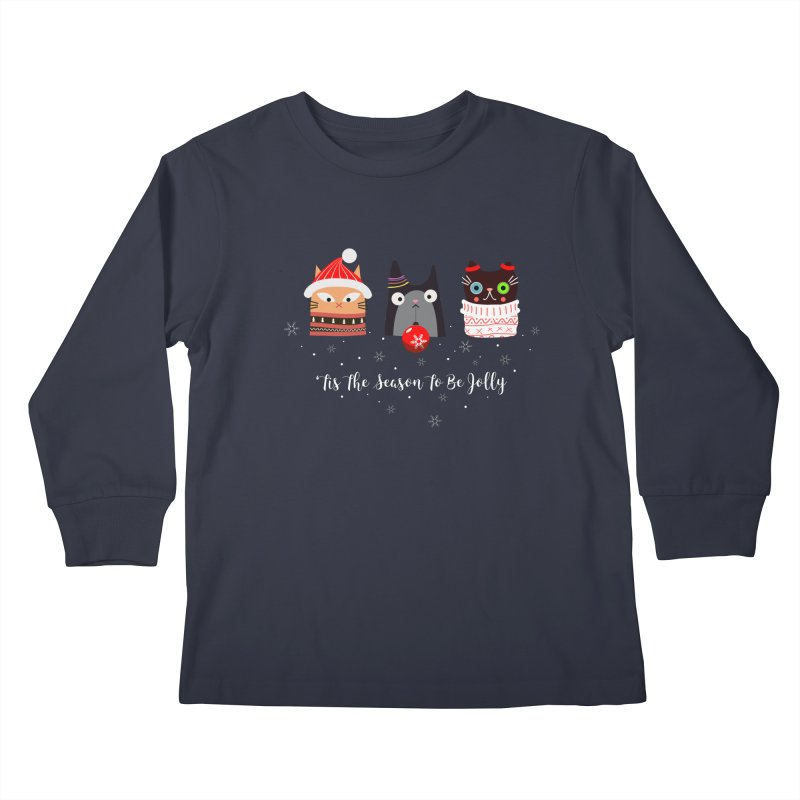 'Tis the season to be jolly... Kids Longsleeve T-Shirt by Shop to help cats