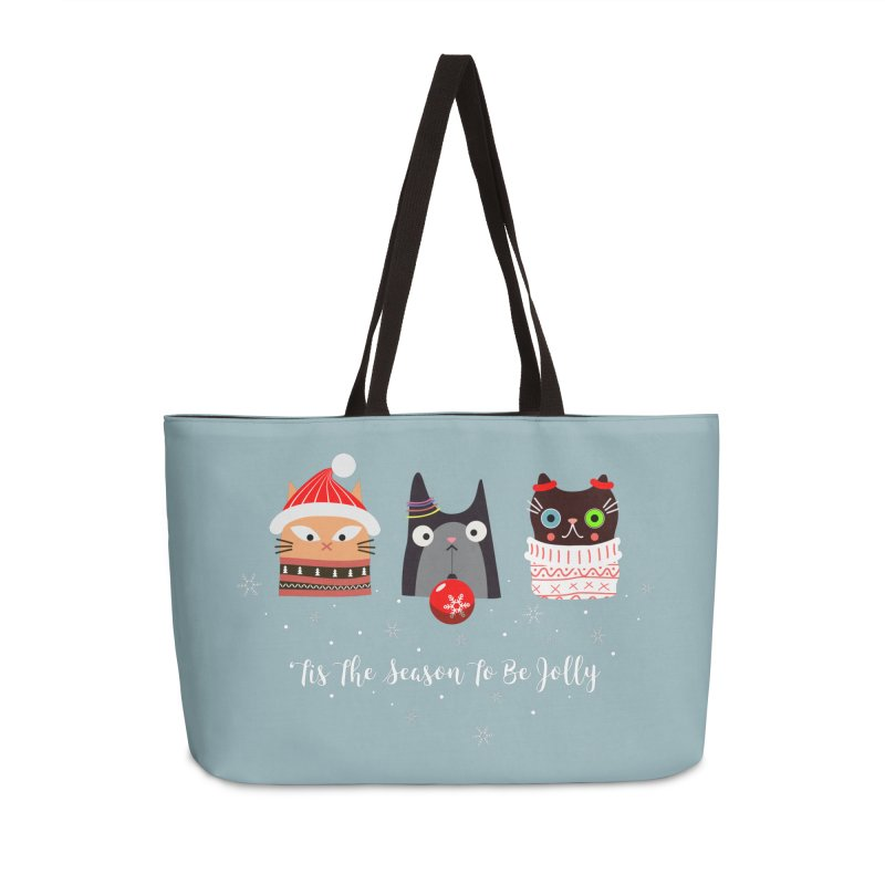 'Tis the season to be jolly... in Weekender Bag by Shop to help cats