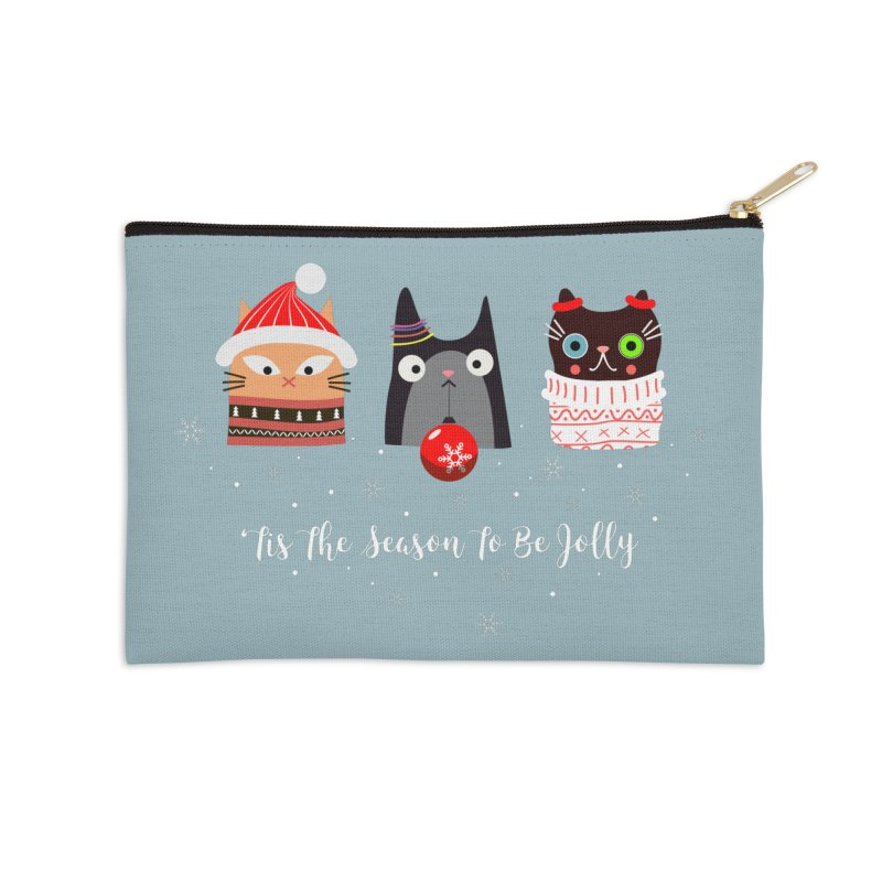 'Tis the season to be jolly... Accessories Zip Pouch by Shop to help cats
