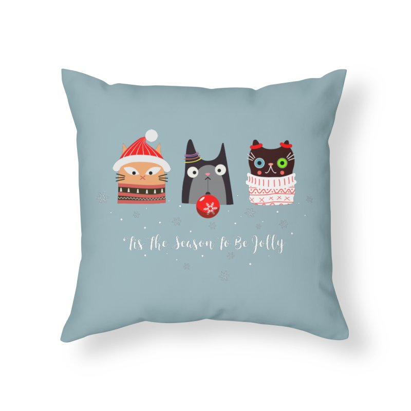 'Tis the season to be jolly... in Throw Pillow by Shop to help cats