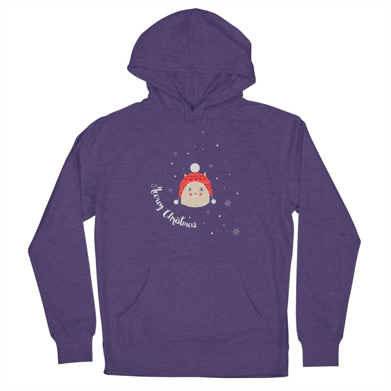 Meowy Christmas! Men's French Terry Pullover Hoody by Shop to help cats