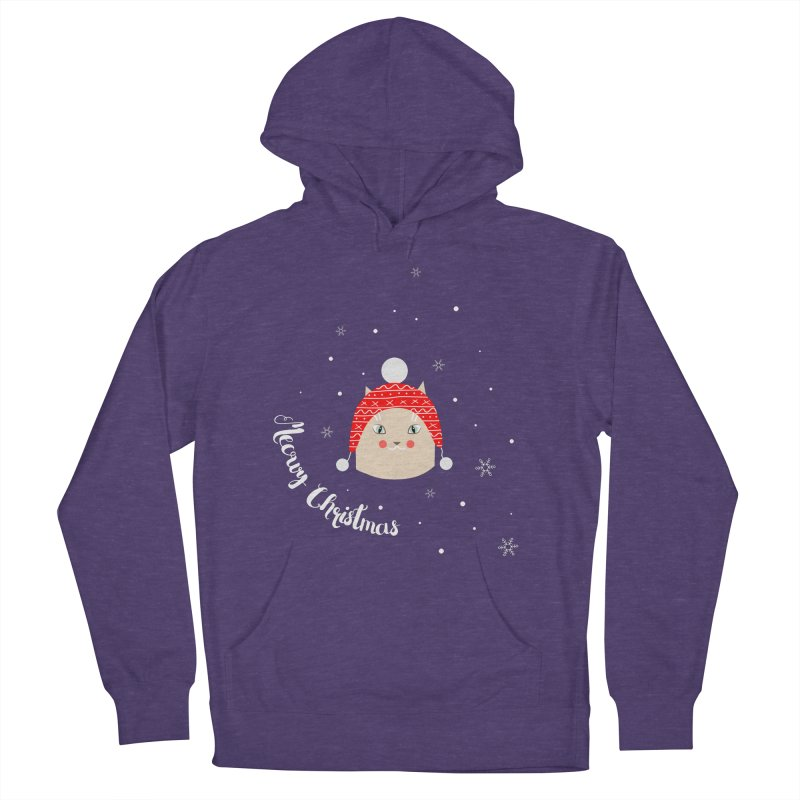 Meowy Christmas! Women's French Terry Pullover Hoody by Shop to help cats