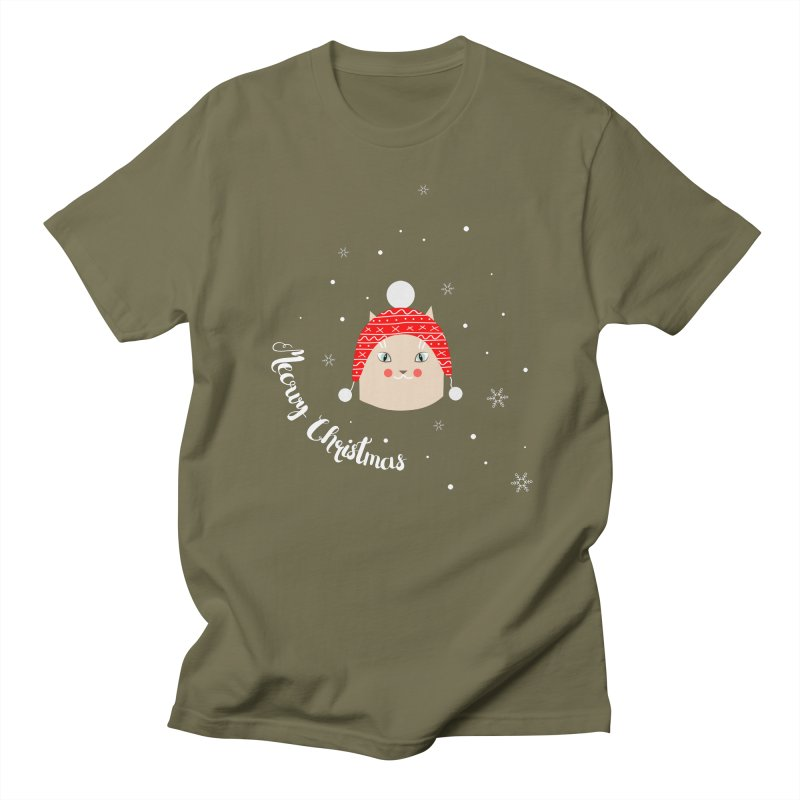 Meowy Christmas! Men's T-shirt by Shop to help cats
