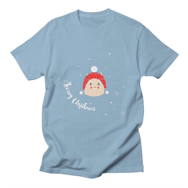 Meowy Christmas! Men's Regular T-Shirt by Shop to help cats