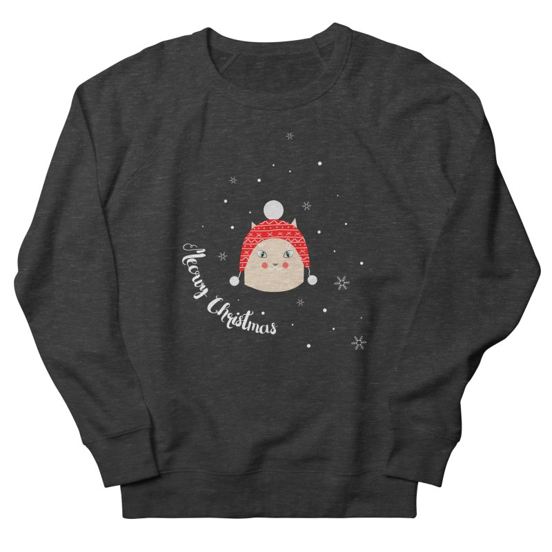 Meowy Christmas! Women's French Terry Sweatshirt by Shop to help cats