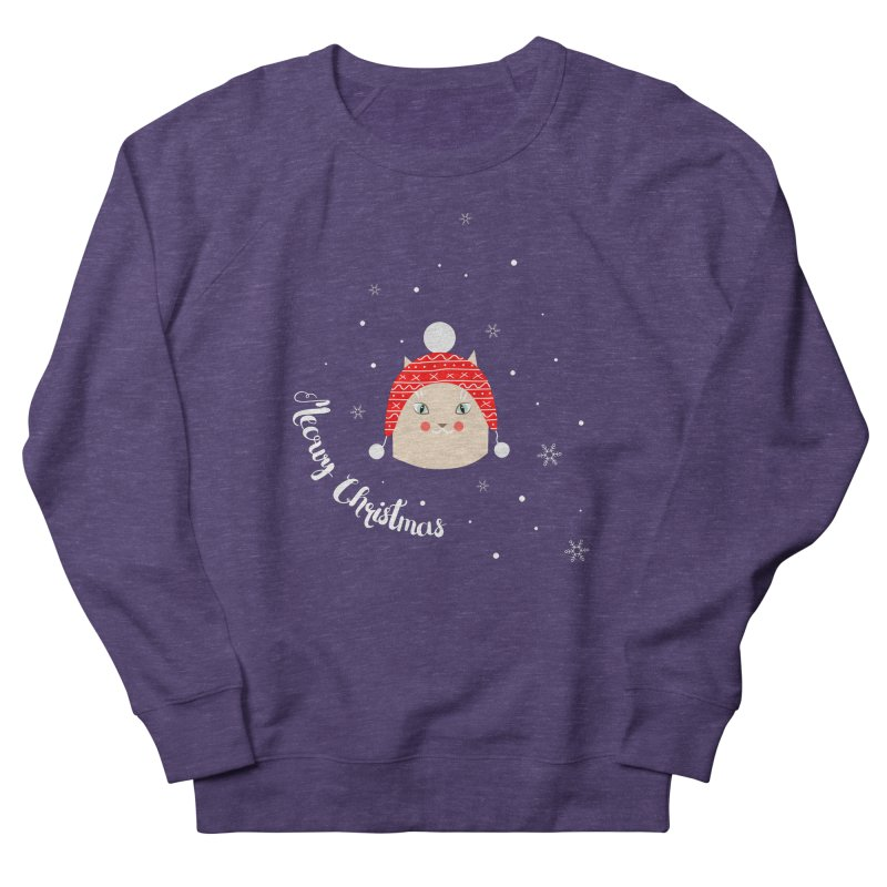 Meowy Christmas! Men's French Terry Sweatshirt by Shop to help cats