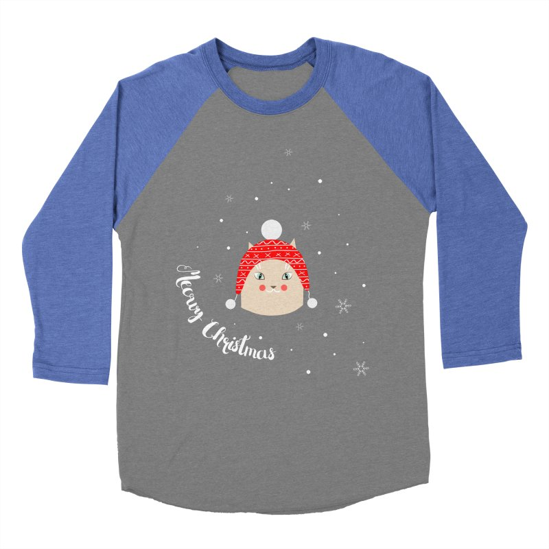 Meowy Christmas! Men's Baseball Triblend T-Shirt by Shop to help cats