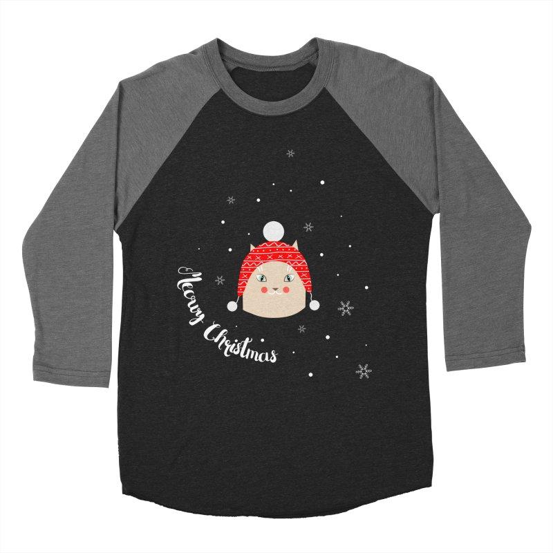 Meowy Christmas! Men's Baseball Triblend T-Shirt by Shop to help cats