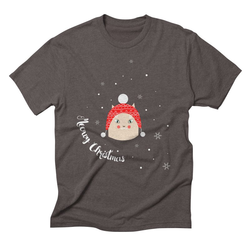 Meowy Christmas! Men's Triblend T-shirt by Shop to help cats