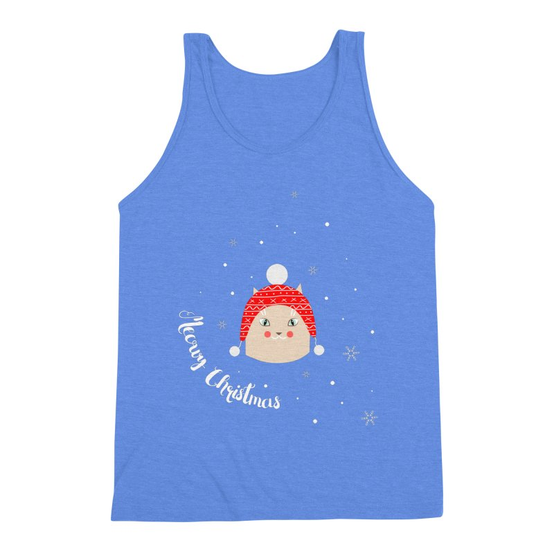 Meowy Christmas! Men's Triblend Tank by Shop to help cats