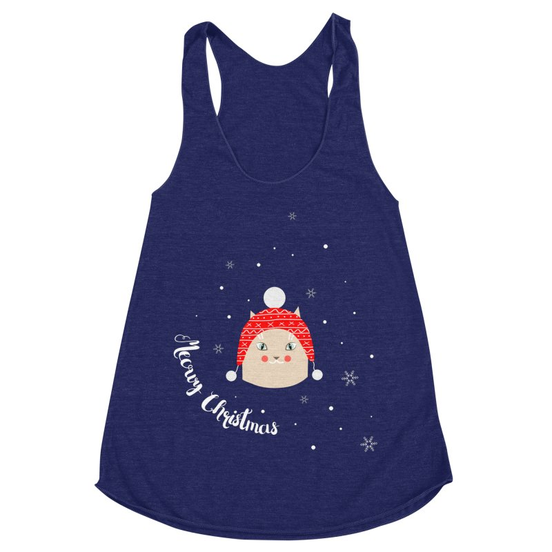 Meowy Christmas! Women's Racerback Triblend Tank by Shop to help cats