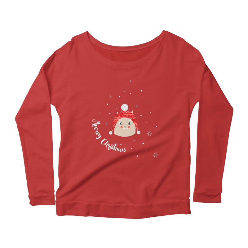 Meowy Christmas! Women's Scoop Neck Longsleeve T-Shirt by Shop to help cats