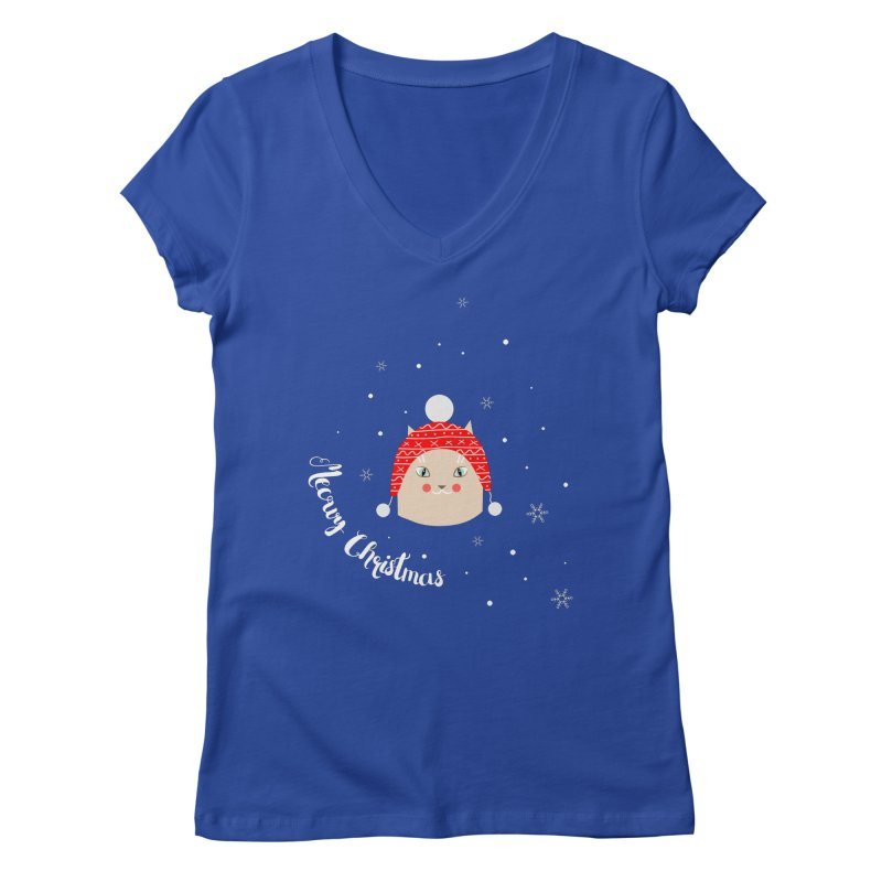 Meowy Christmas! Women's Regular V-Neck by Shop to help cats