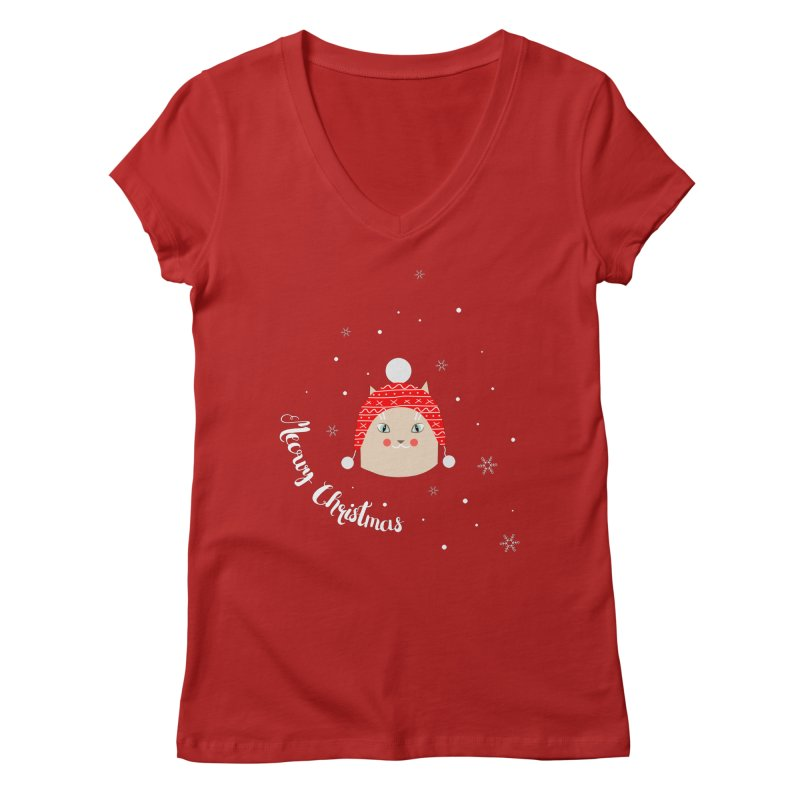 Meowy Christmas! Women's V-Neck by Shop to help cats