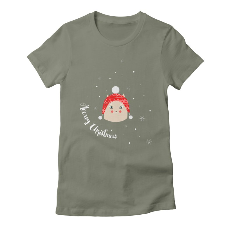Meowy Christmas! Women's Fitted T-Shirt by Shop to help cats