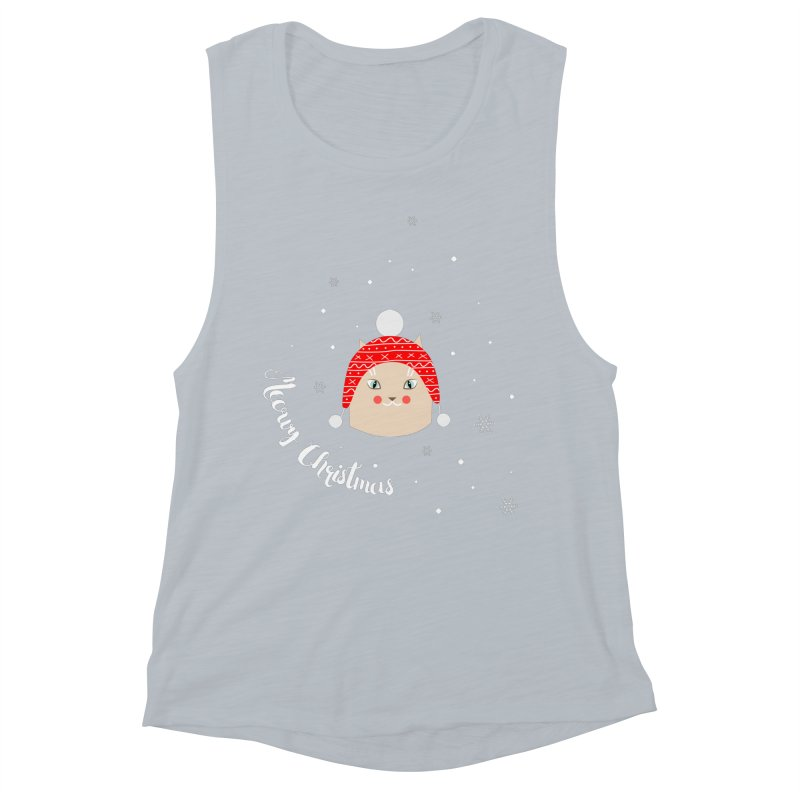 Meowy Christmas! Women's Muscle Tank by Shop to help cats