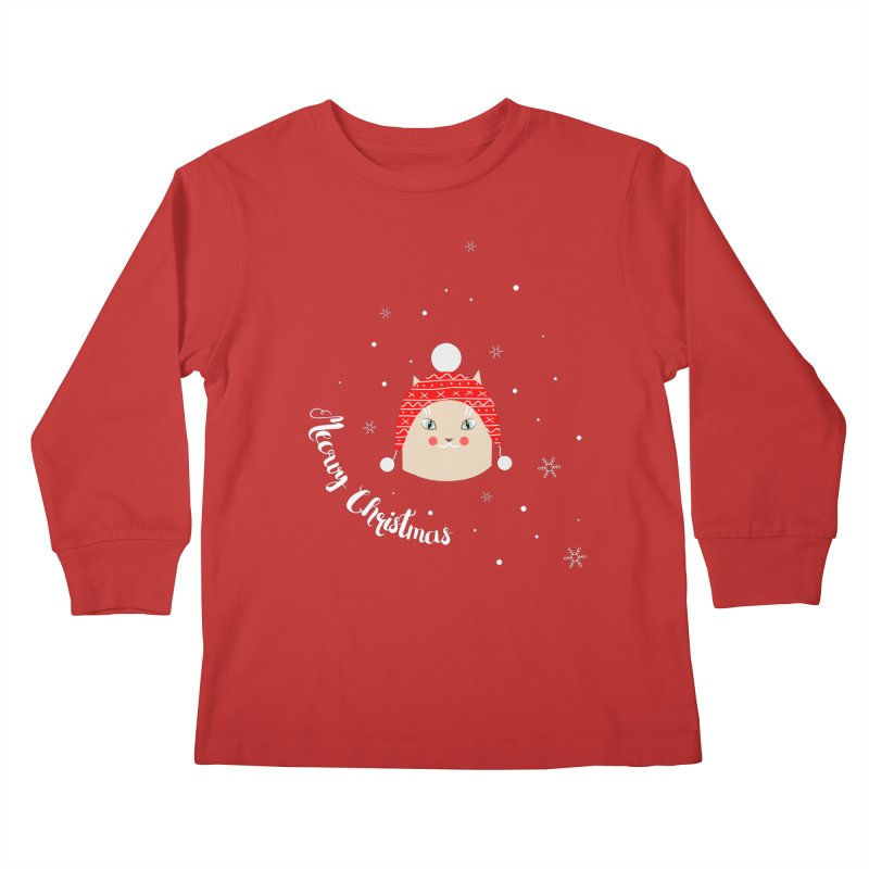 Meowy Christmas! Kids Longsleeve T-Shirt by Shop to help cats