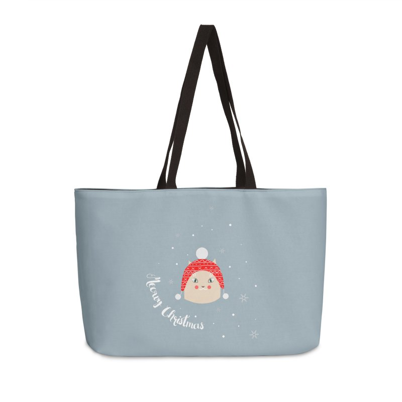 Meowy Christmas! Accessories Weekender Bag Bag by Shop to help cats