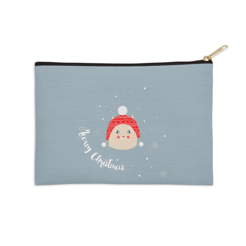 Meowy Christmas! Accessories Zip Pouch by Shop to help cats