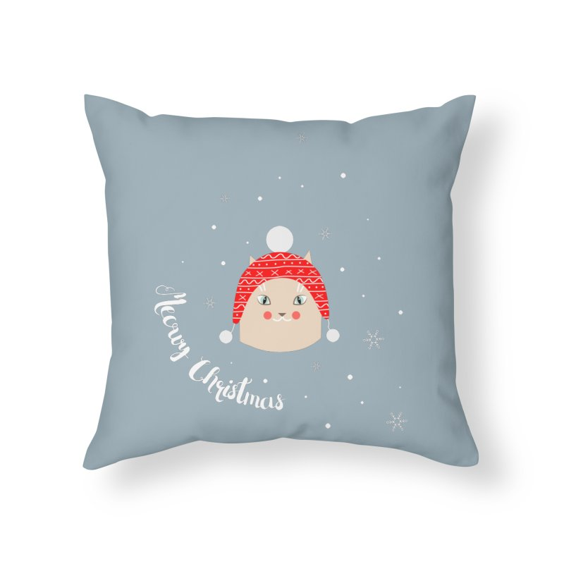 Meowy Christmas! Home Throw Pillow by Shop to help cats