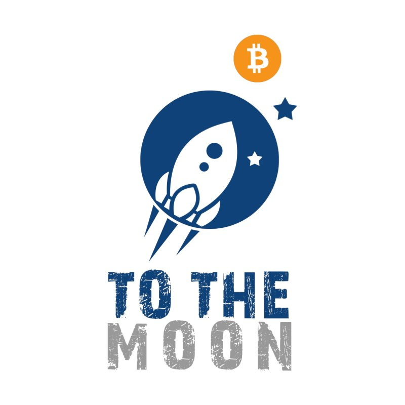 Bitcoin To The Moon Men's T-Shirt by Shop to help cats