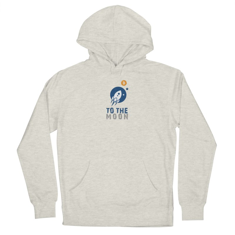 Bitcoin To The Moon Women's French Terry Pullover Hoody by Shop to help cats