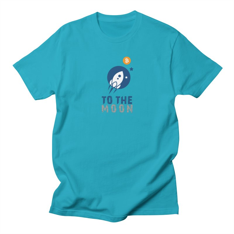 Bitcoin To The Moon Men's Regular T-Shirt by Shop to help cats