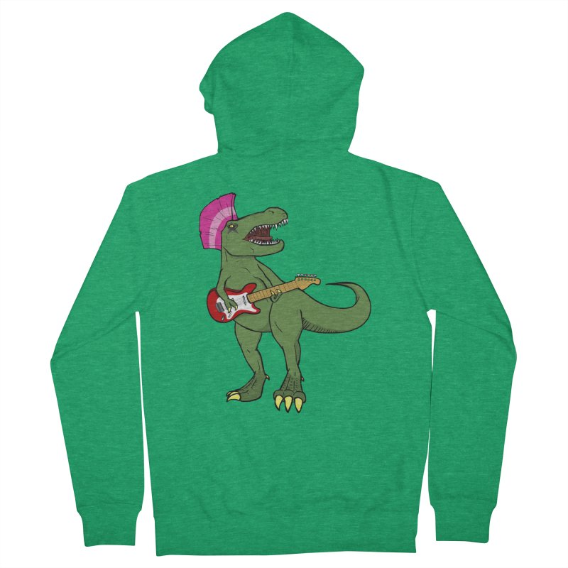 Tyrant Lizard Women's Zip-Up Hoody by Bigger Than Cheeses