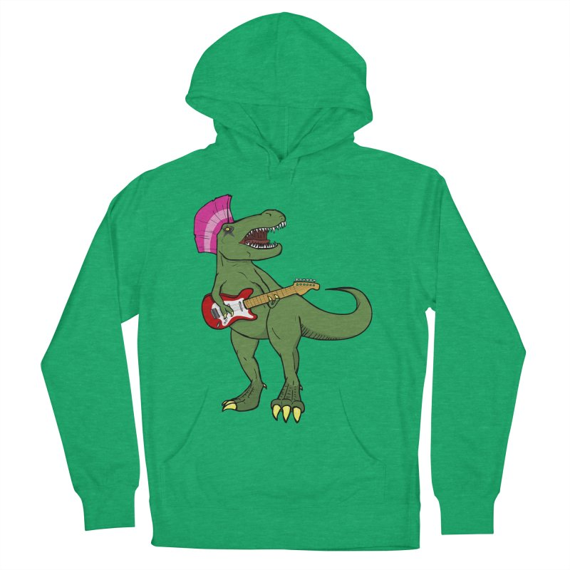 Tyrant Lizard Men's French Terry Pullover Hoody by Bigger Than Cheeses