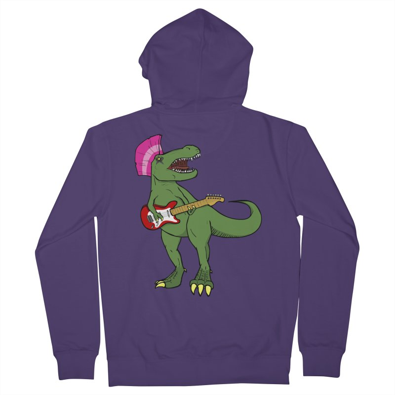 Tyrant Lizard Women's French Terry Zip-Up Hoody by Bigger Than Cheeses