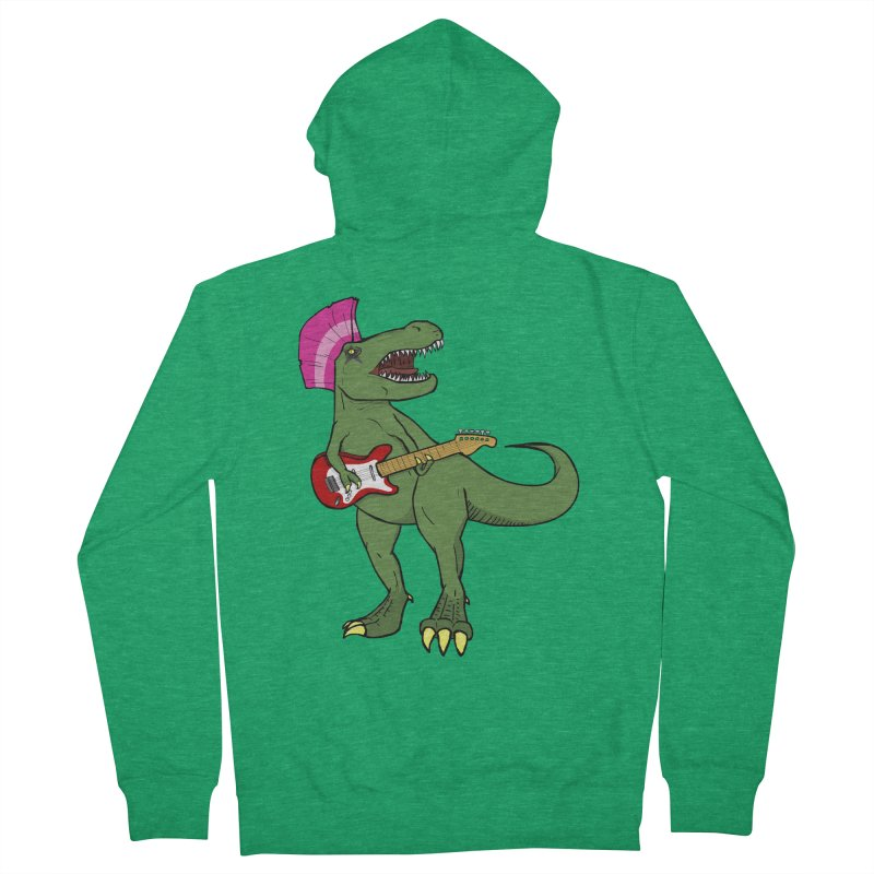 Tyrant Lizard Men's French Terry Zip-Up Hoody by Bigger Than Cheeses