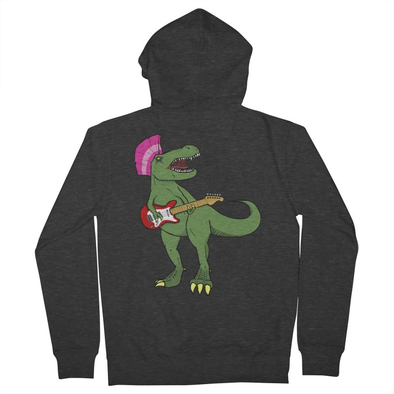 Tyrant Lizard Men's Zip-Up Hoody by Bigger Than Cheeses