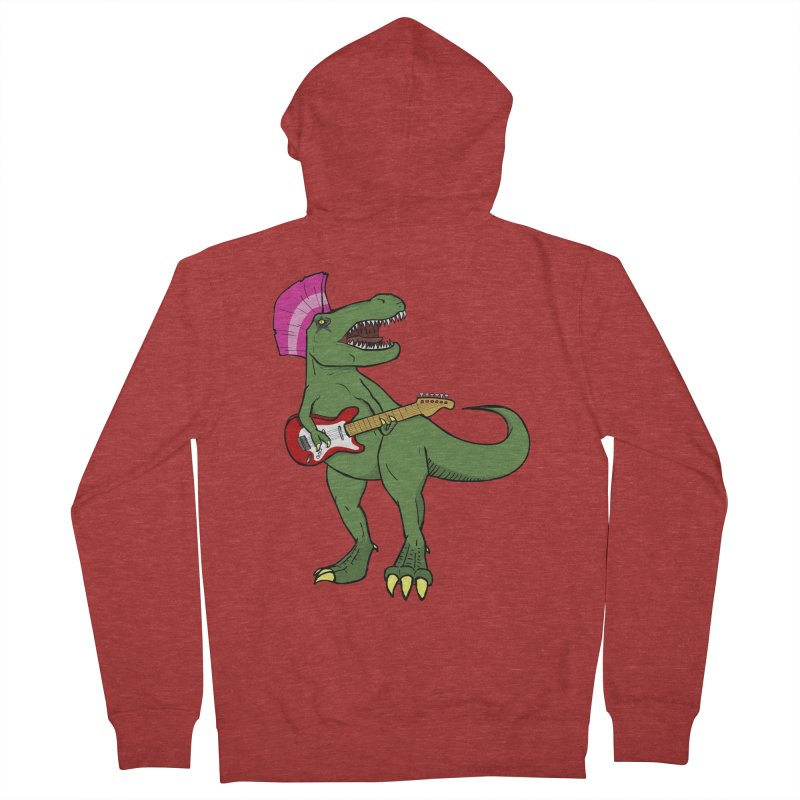Tyrant Lizard Men's Zip-Up Hoody by Bigger Than Cheeses