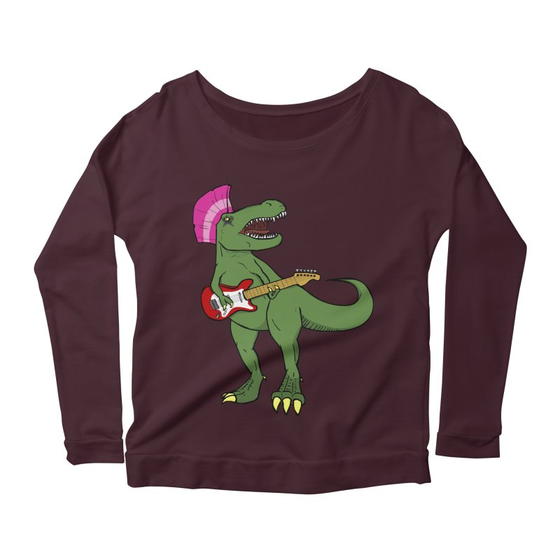 Tyrant Lizard Women's Longsleeve Scoopneck  by Bigger Than Cheeses
