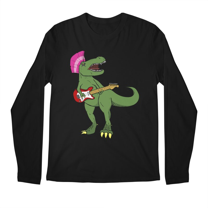 Tyrant Lizard Men's Regular Longsleeve T-Shirt by Bigger Than Cheeses