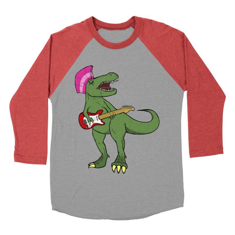 Tyrant Lizard Men's Baseball Triblend Longsleeve T-Shirt by Bigger Than Cheeses