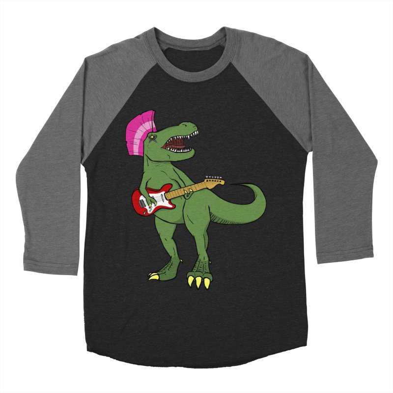Tyrant Lizard Men's Baseball Triblend Longsleeve T-Shirt by Bigger Than Cheeses