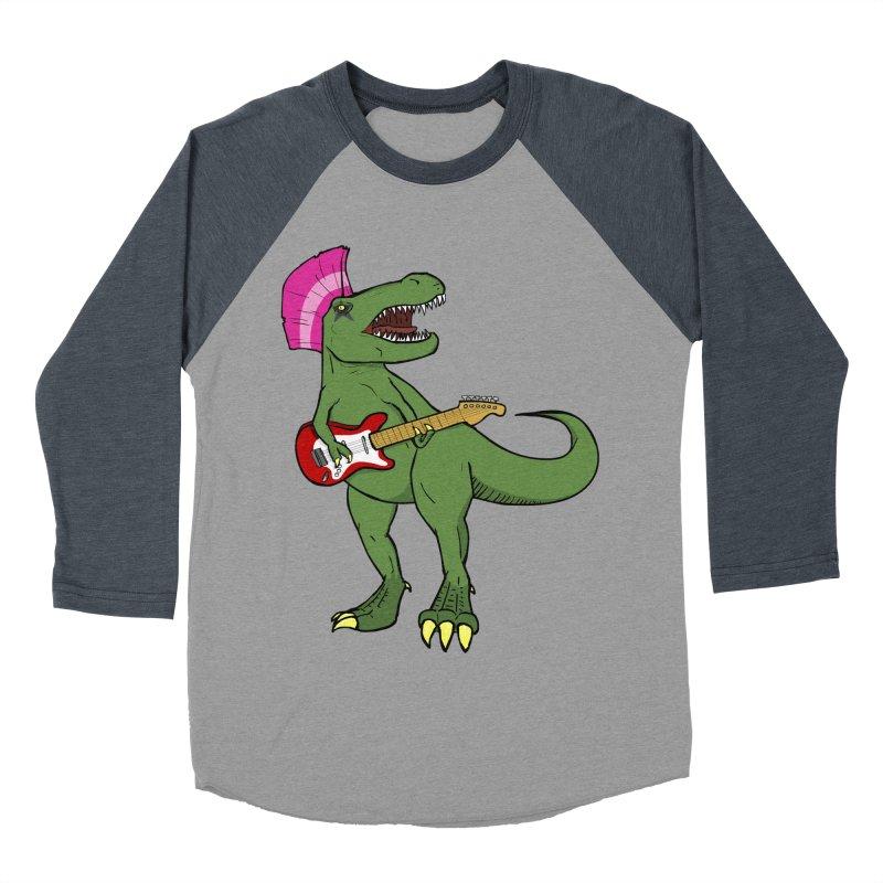 Tyrant Lizard Men's Baseball Triblend T-Shirt by Bigger Than Cheeses