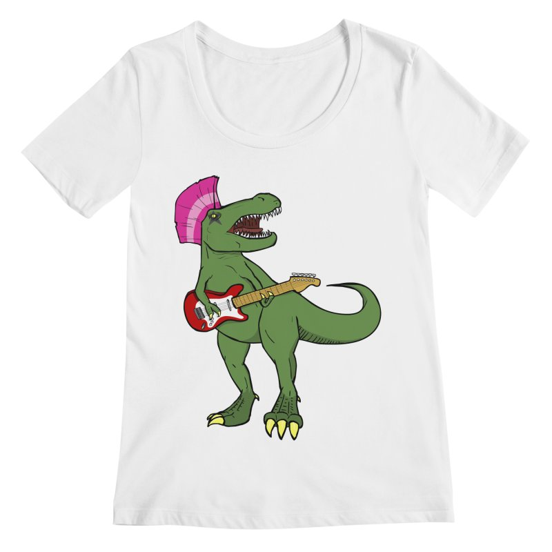 Tyrant Lizard Women's Regular Scoop Neck by Bigger Than Cheeses