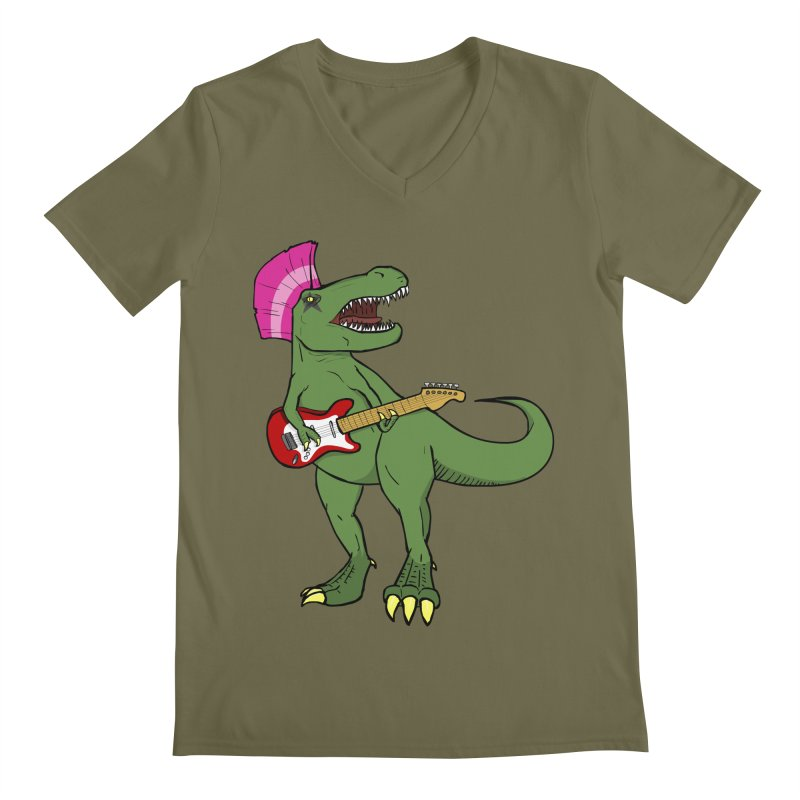Tyrant Lizard Men's V-Neck by Bigger Than Cheeses