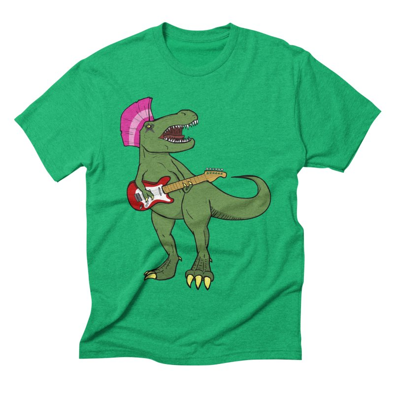 Tyrant Lizard Men's Triblend T-shirt by Bigger Than Cheeses