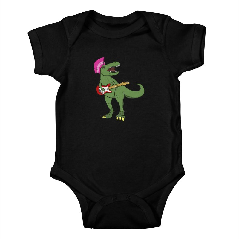 Tyrant Lizard Kids Baby Bodysuit by Bigger Than Cheeses