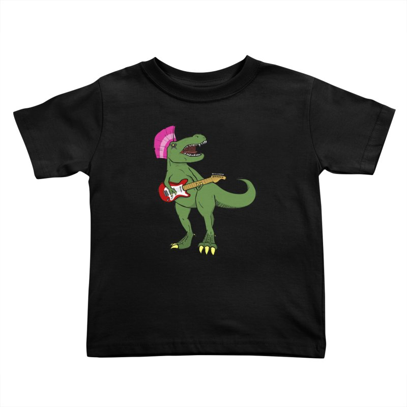 Tyrant Lizard Kids Toddler T-Shirt by Bigger Than Cheeses