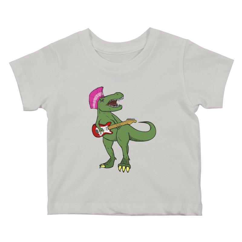 Tyrant Lizard Kids Baby T-Shirt by Bigger Than Cheeses