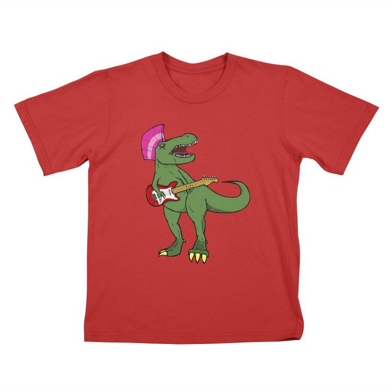 Tyrant Lizard Kids T-Shirt by Bigger Than Cheeses