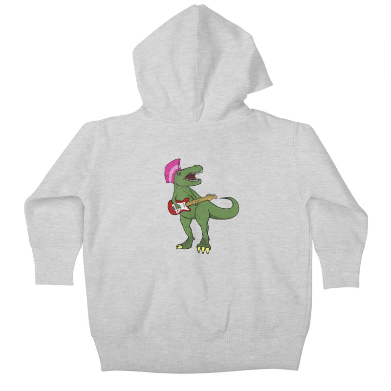 Tyrant Lizard Kids Baby Zip-Up Hoody by Bigger Than Cheeses