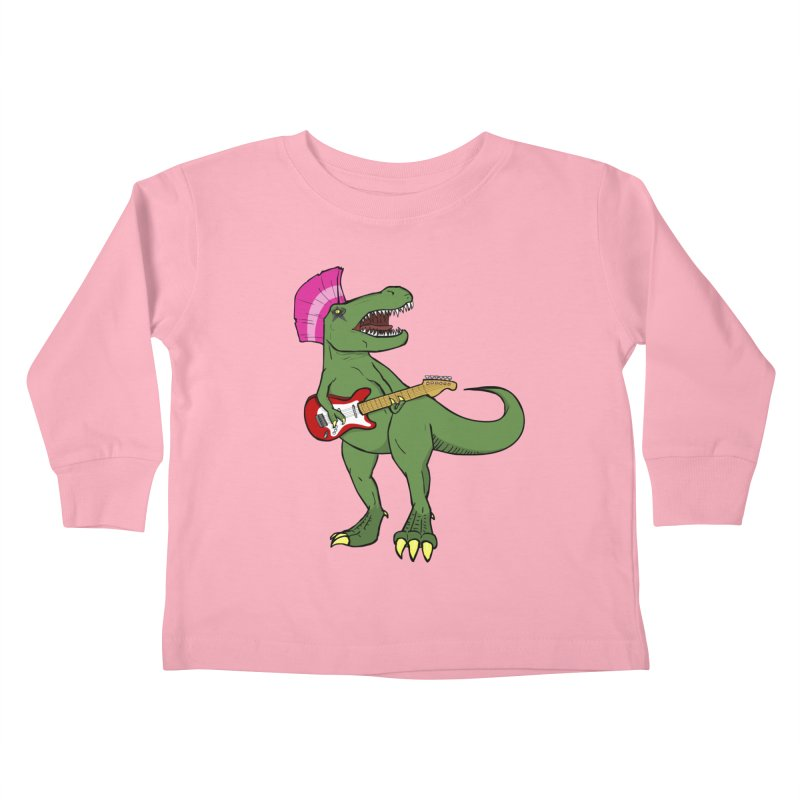 Tyrant Lizard Kids Toddler Longsleeve T-Shirt by Bigger Than Cheeses