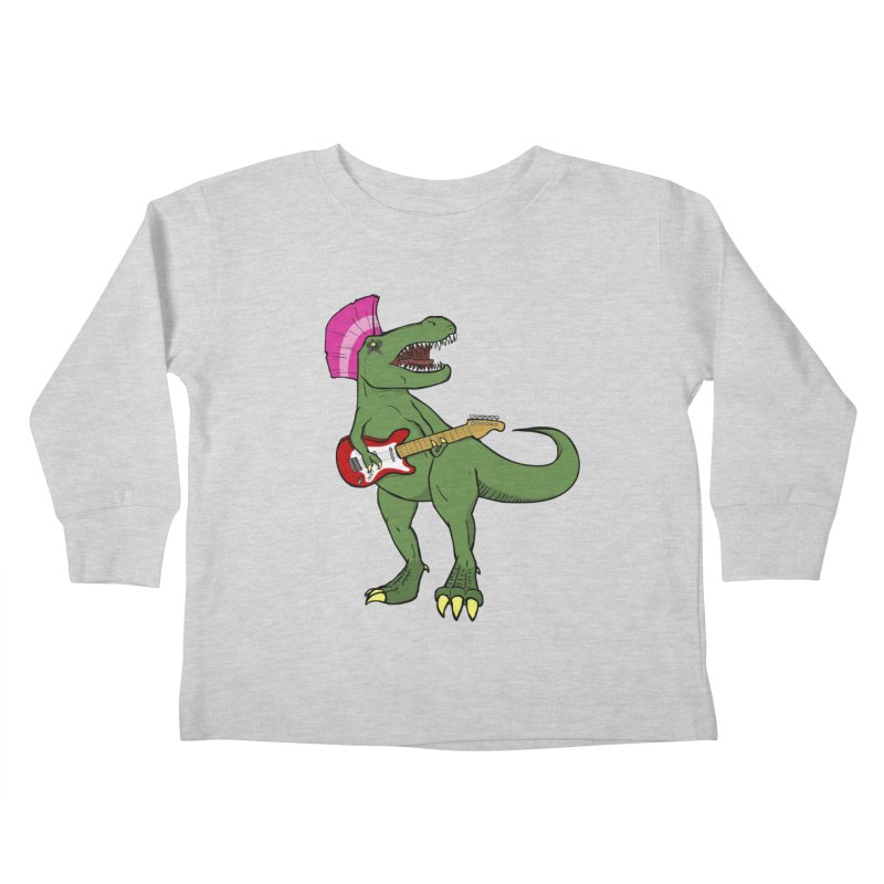 Tyrant Lizard Kids Toddler Longsleeve T-Shirt by Bigger Than Cheeses